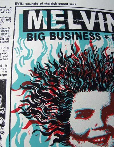Melvins Print closeup