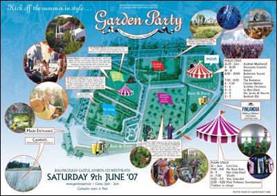 Garden Party Site Map
