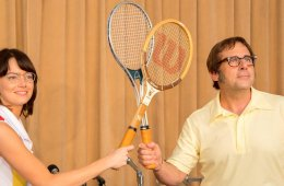 Emma Stone and Steve Carell in Battle of the Sexes