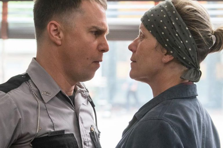 Sam Rockwell and Frances McDormand in Three Billboards Outside Ebbing, Missouri